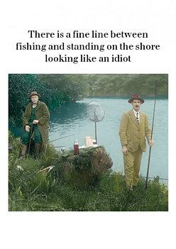 Photocaptions : Fishing - Kort med kuvert