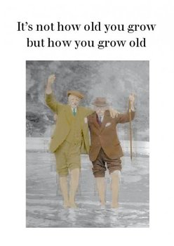 Photocaptions : How you grow old - Kort med kuvert