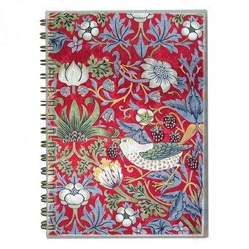 William Morris : Strawberry Thief röd Skrivbok A5