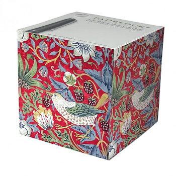 William Morris : Strawberry Thief röd Blockkub
