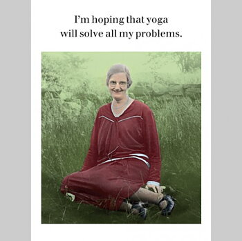 Photocaptions : Yoga will solve problems - Vykort