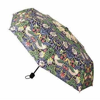 William Morris : Strawberry Thief blå Paraply