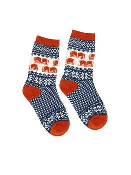 Winter Reading Socks : Strumpor storlek Large