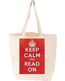 Love Lit : Keep calm and read on Tote bag
