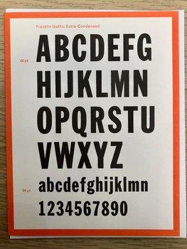 Vintage Typography : Franklin Gothic- Kort med kuvert