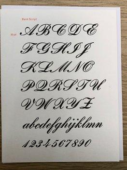 Vintage Typography : Bank Script - Kort med kuvert