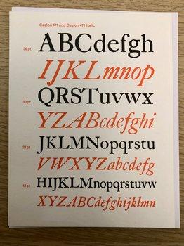 Vintage Typography : Caslon - Kort med kuvert