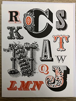 Vintage Typography : Advertising - Kort med kuvert
