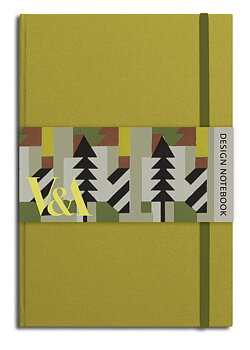V&A Design : Notebook - Victorian chartreuse