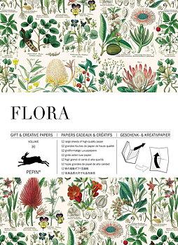 Flora Gift & Creative Paper Book : Presentpappersbok