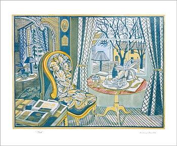 Richard Bawden : Tea - Kort med kuvert