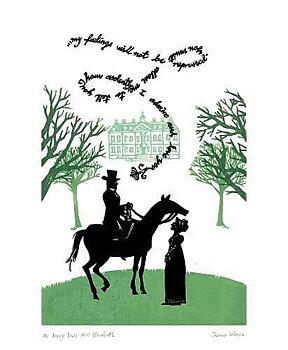 Jazmin Velasco : Mr Darcy loves Miss Elizabeth - Kort med kuvert