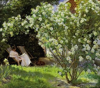 Peter Severin Kröyer : Roses 1893 - Kort med kuvert