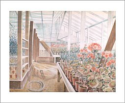 Eric Ravilious : Geraniums and Carnations 1938 - Kort med kuvert