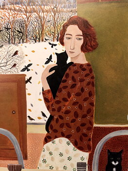 Dee Nickerson : Waking up to a white world - Kort med kuvert