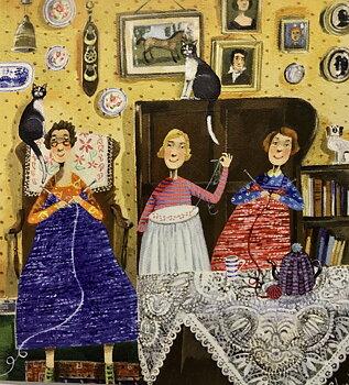 Stephanie Lambourne : The Crafty Ladies - Kort med kuvert