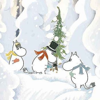 Moomin : Cutting Christmas Tree - Kort med kuvert