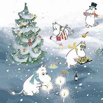 Mumin : Jul - fira julafton - Kort med kuvert