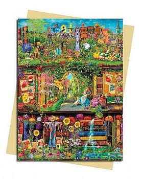 Aimee Stewart : Garden Bookshelves - Kort med kuvert