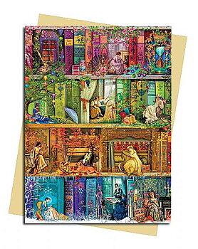 Aimee Stewart : The Stitch in Time Bookshelves - Kort med kuvert
