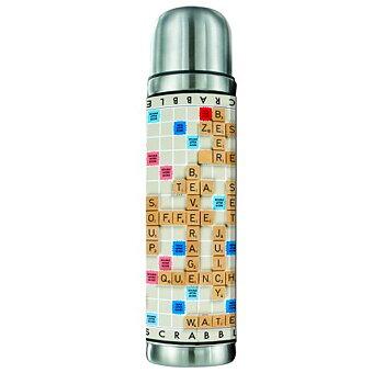 Alfapet/Scrabble : Termos i rostfritt stål