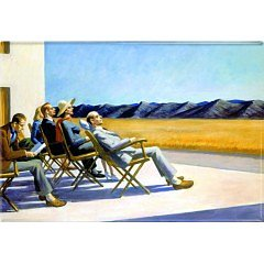 Edward Hopper :  People in the sun  - Kylskåpsmagnet