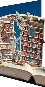 Su Blackwell : The Book Collector Paper Sculpture - Kort med kuvert