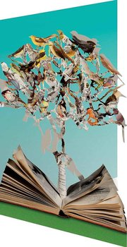 Su Blackwell : Tree with birds Paper Sculpture - Kort med kuvert