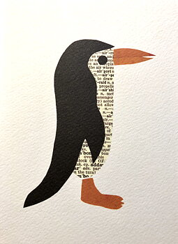 Denise Fiedler : Works in paper Penguin - Kort med kuvert