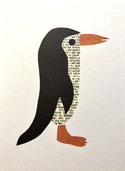 Denise Fiedler : Works in paper Penguin - Kort med kuvert