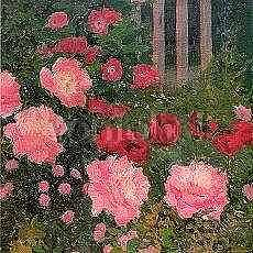 Koloman Moser : Flower Garden 1909 - Kort med kuvert