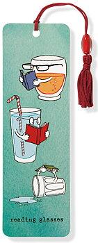 Reading glasses : Bokmärke med tofs och pärla