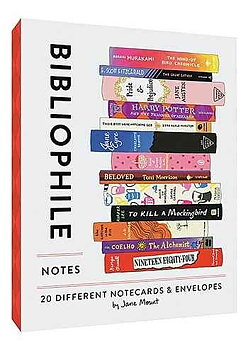 Bibliophile : 20 different Notecards & Envelopes
