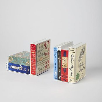 Bibliophile : Ceramic bookends - bokstöd i porslin