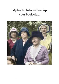 My book club can beat up your book club : Kort med kuvert