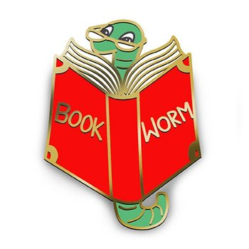 Book Worm : Enamel Pin