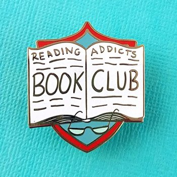 Reading Addicts Bookclub : Enamel Pin