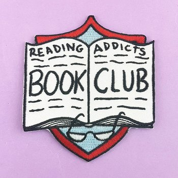 Reading Addicts Bookclub : Embroidered Patch