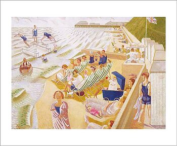Edward Bawden : By the sea - Kort med kuvert