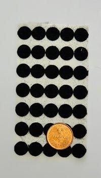 Självhäftande möbeltass 10 mm Svart