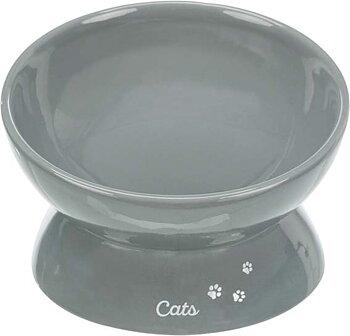 Keramikskål till katt XXL Grå