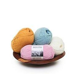 Novita Baby Merino 1/2 kg med 6 färger