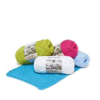 Paket Novita Cotton Soft 1/2 kg i 14 färger