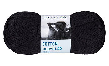 Cotton Recykled Svart 099