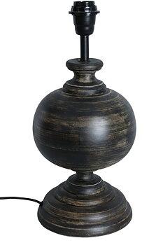 Brun Lampfot i Trä H40cm