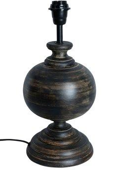 Svart Lampfot i Trä H40cm