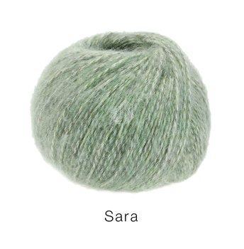 Sara - Ljus grågrön melerad