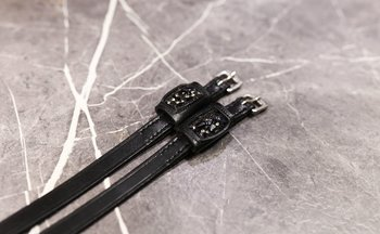 Spur straps  with Swarovski Black