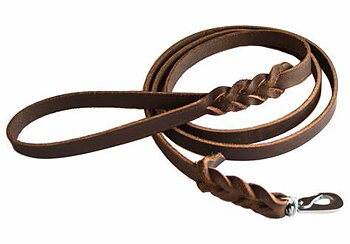 Läderkoppel brunt 180 cm