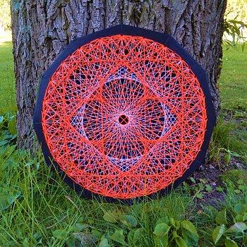 Dodekagon Röd/Vit Blomma
